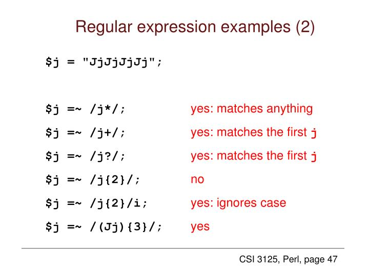 Regular expression examples (2)