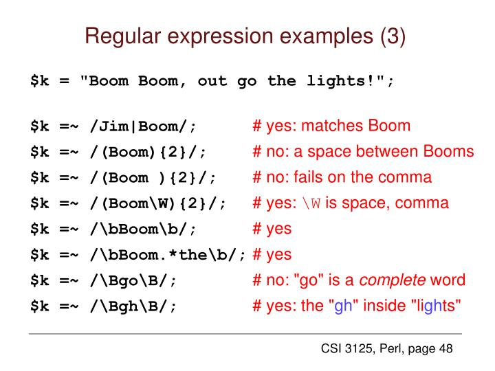 Regular expression examples (3)