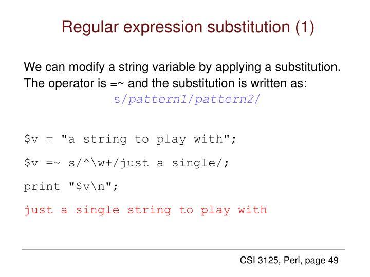 Regular expression substitution (1)