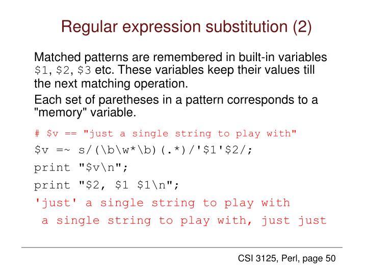 Regular expression substitution (2)