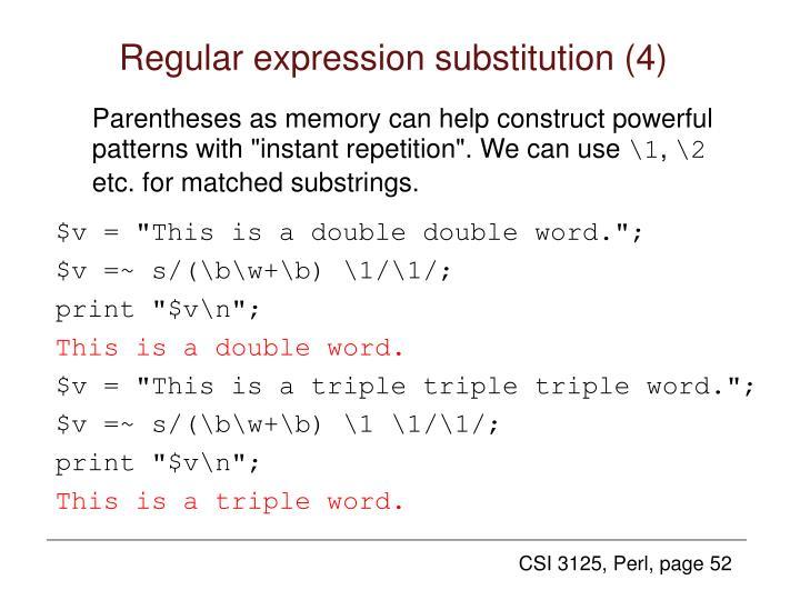 Regular expression substitution (4)