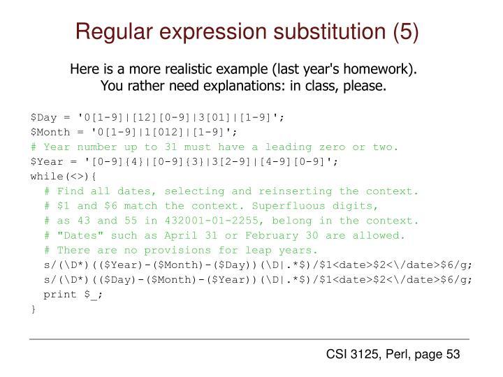 Regular expression substitution (5)