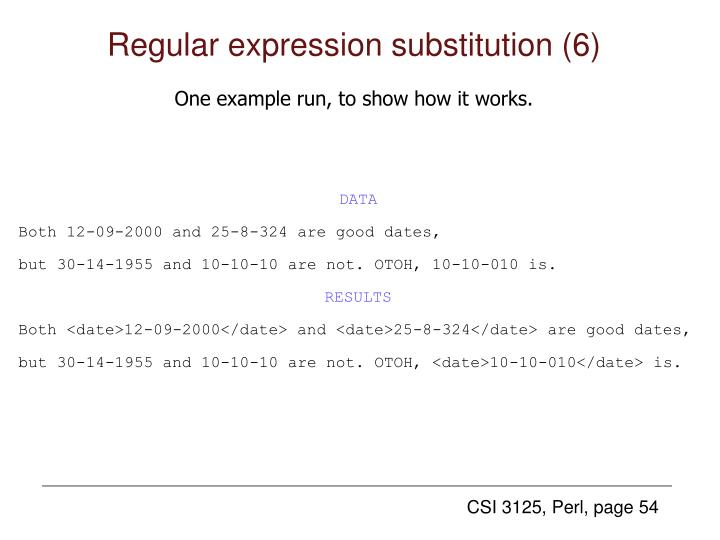 Regular expression substitution (6)