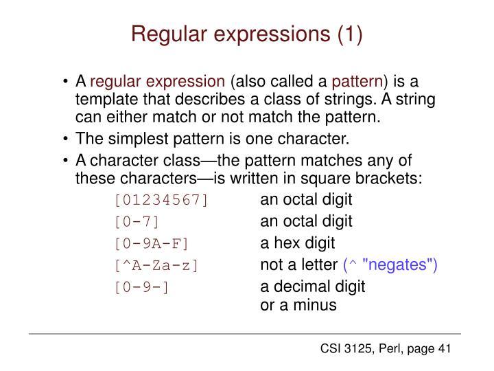 Regular expressions (1)