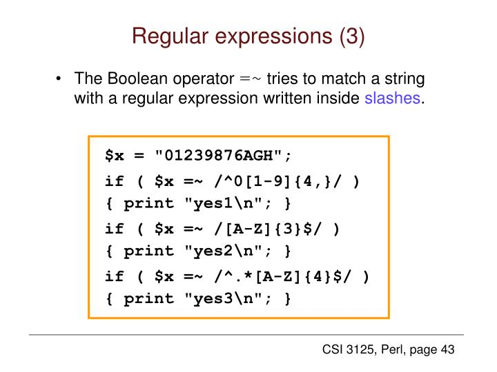 Regular expressions (3)