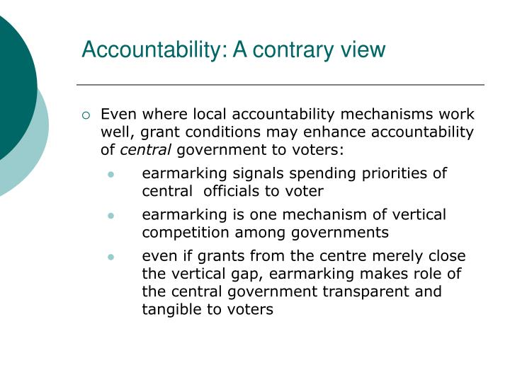 Accountability: A contrary view
