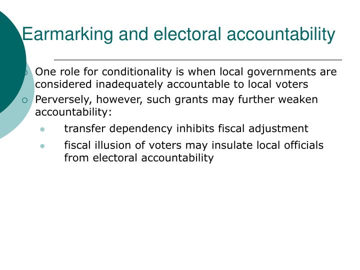 Earmarking and electoral accountability