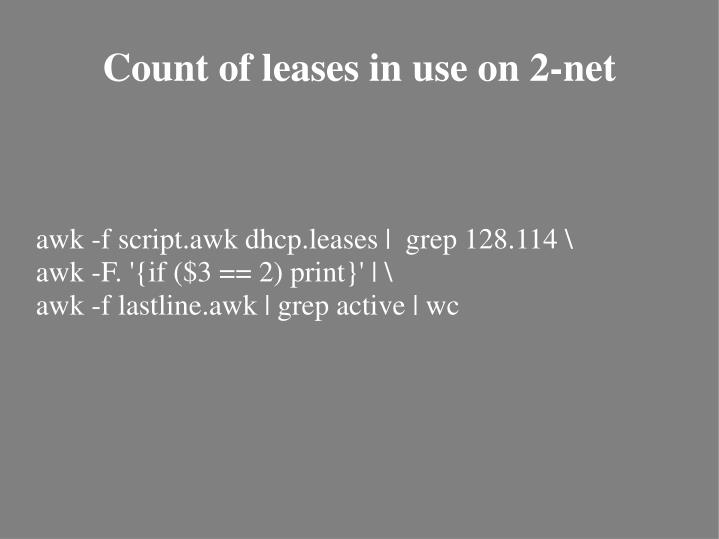 awk -f script.awk dhcp.leases |  grep 128.114 \