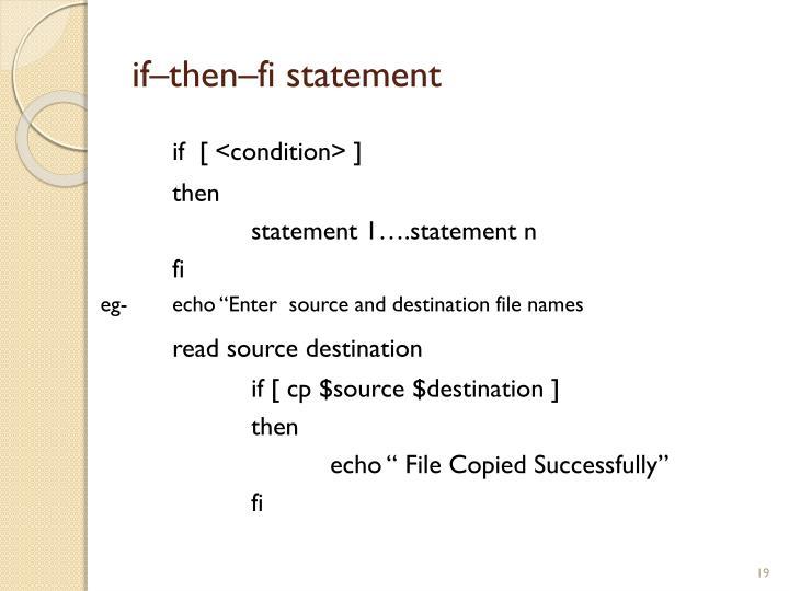 if–then–fi statement
