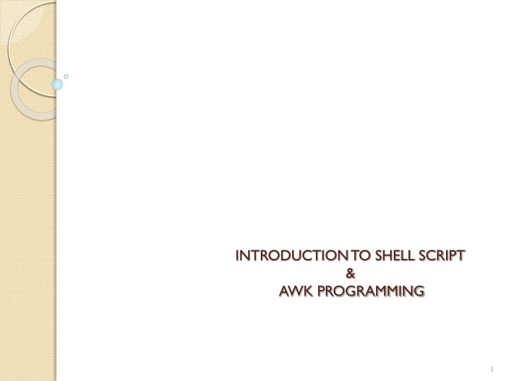introduction to shell script awk programming
