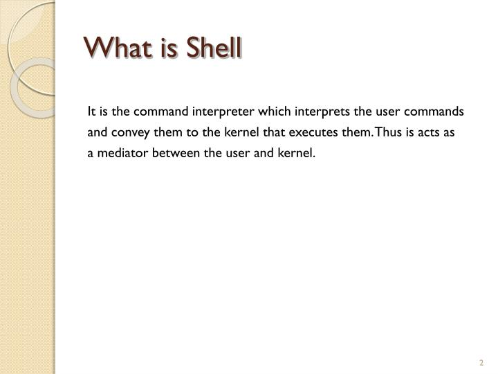 What is Shell