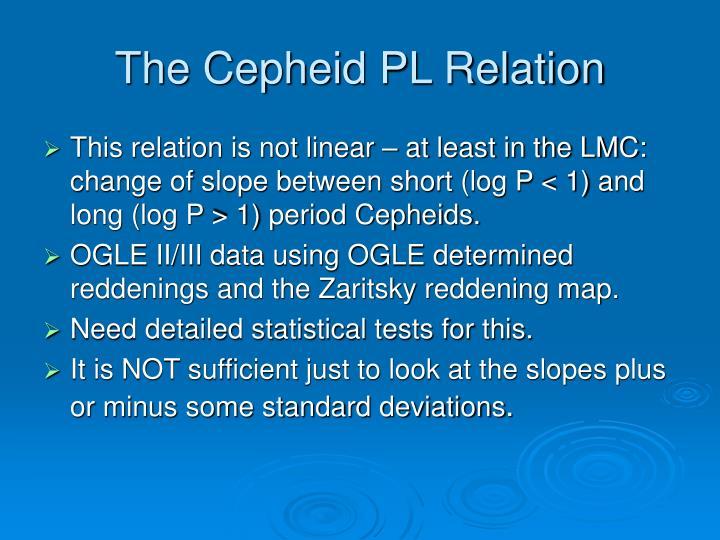 The Cepheid PL Relation