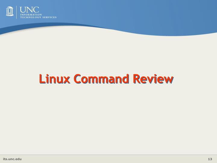 Linux Command Review