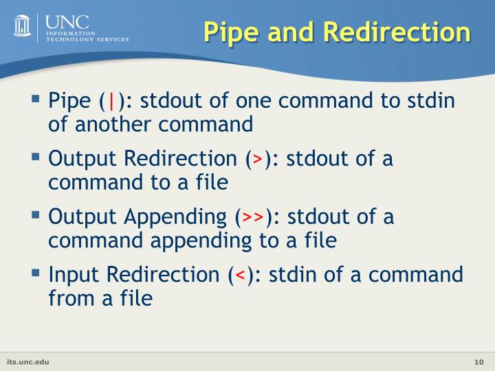 Pipe and Redirection