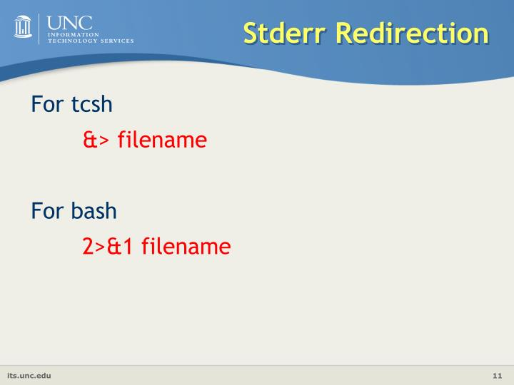 Stderr Redirection