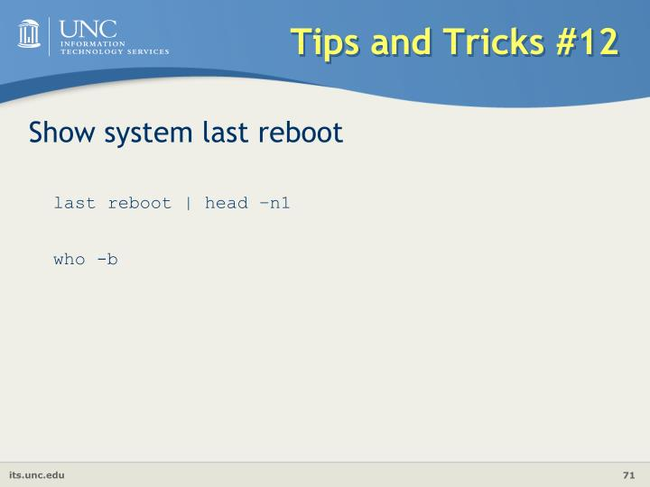 Tips and Tricks #12