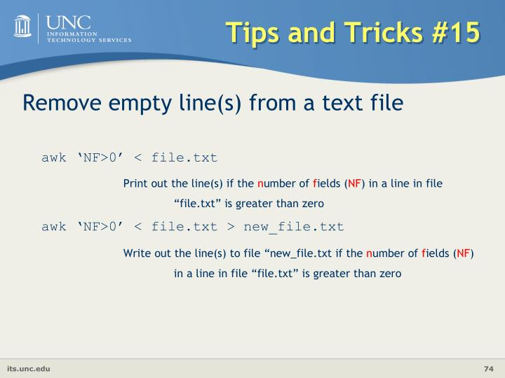 Tips and Tricks #15