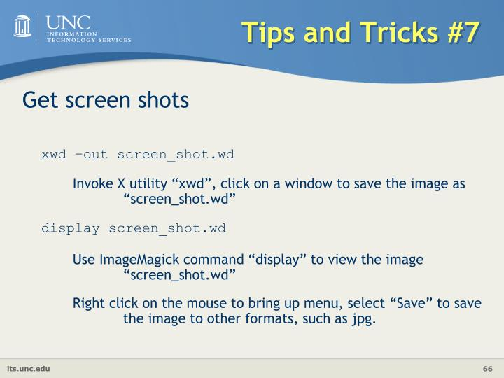 Tips and Tricks #7