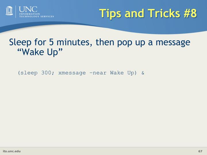 Tips and Tricks #8