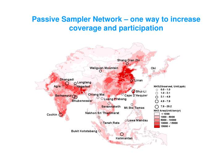 Passive Sampler Network – one way to increase coverage and participation