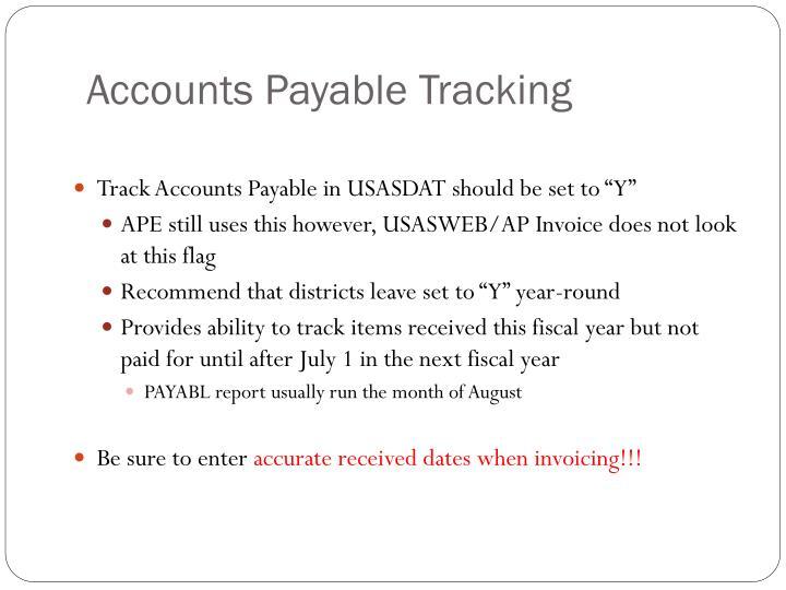 Accounts Payable Tracking