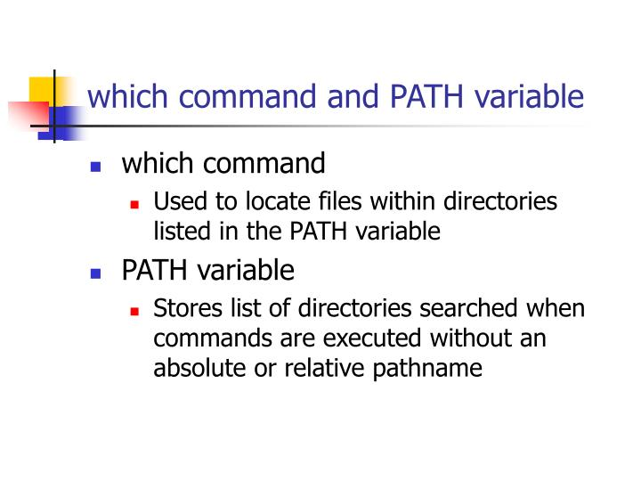 which command and PATH variable