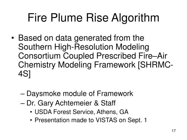Fire Plume Rise Algorithm