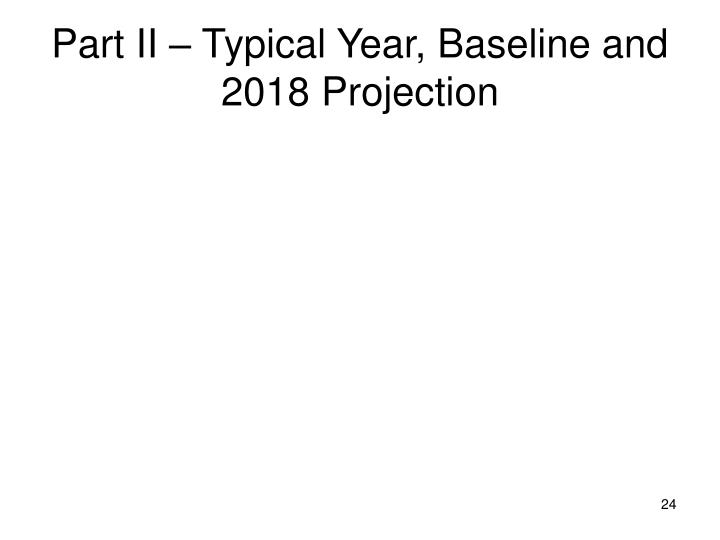 Part II – Typical Year, Baseline and 2018 Projection