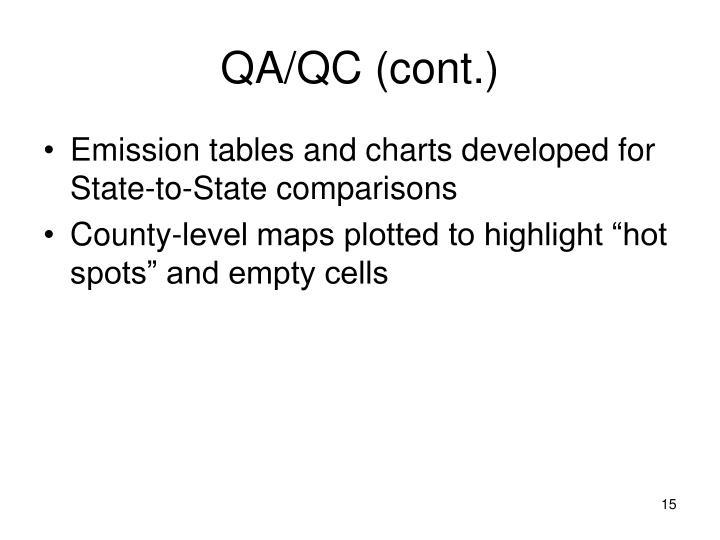 QA/QC (cont.)