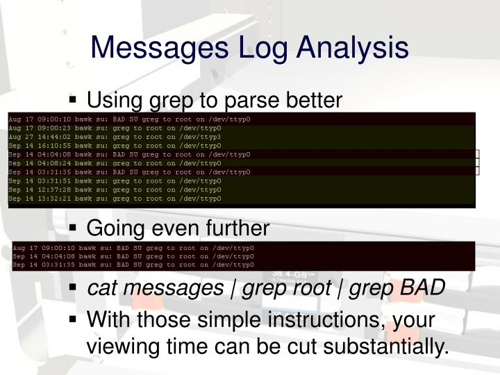 Messages Log Analysis