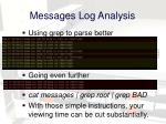 messages log analysis1