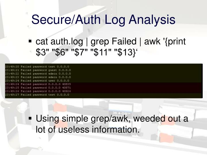 Secure/Auth Log Analysis