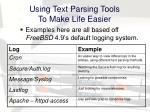 using text parsing tools to make life easier