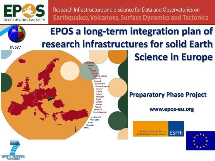 EPOS a long-term integration plan of