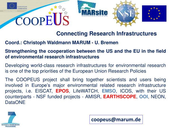 Connecting Research Infrastructures