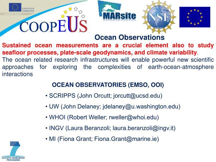 Ocean Observations