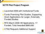 sctr pilot project program