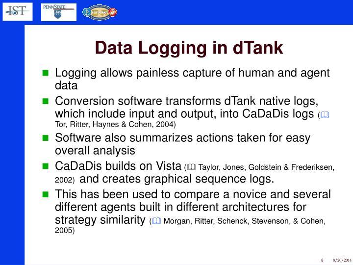 Data Logging in dTank