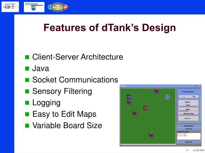 Features of dTank's Design