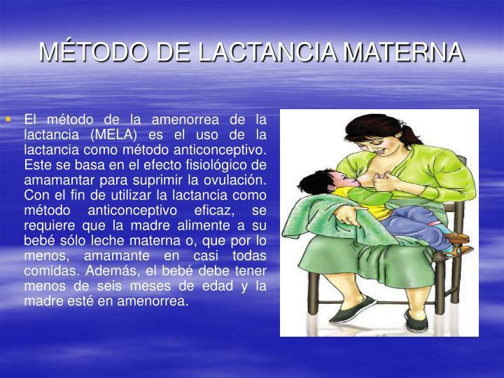 MÉTODO DE LACTANCIA MATERNA
