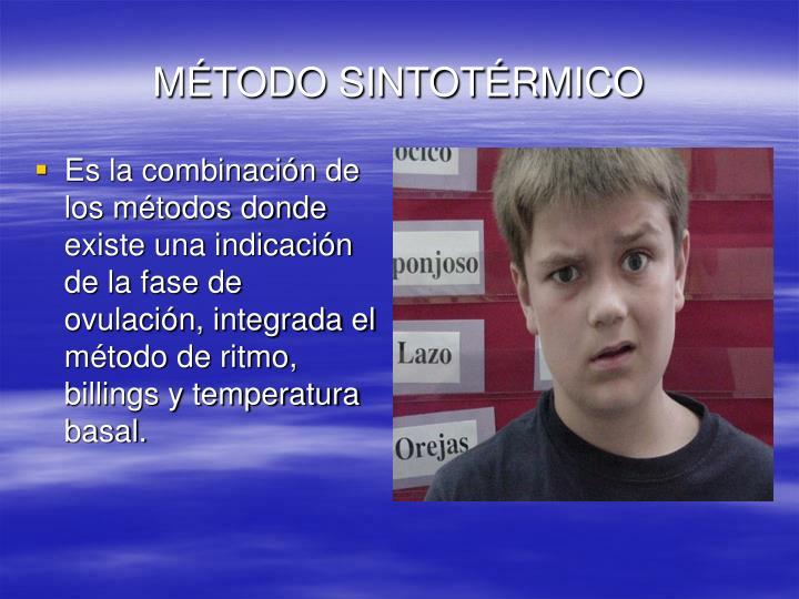 MÉTODO SINTOTÉRMICO