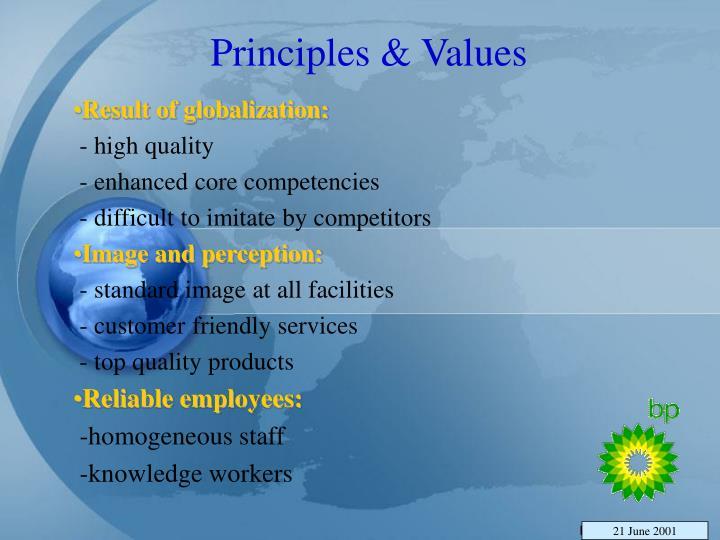 Principles & Values