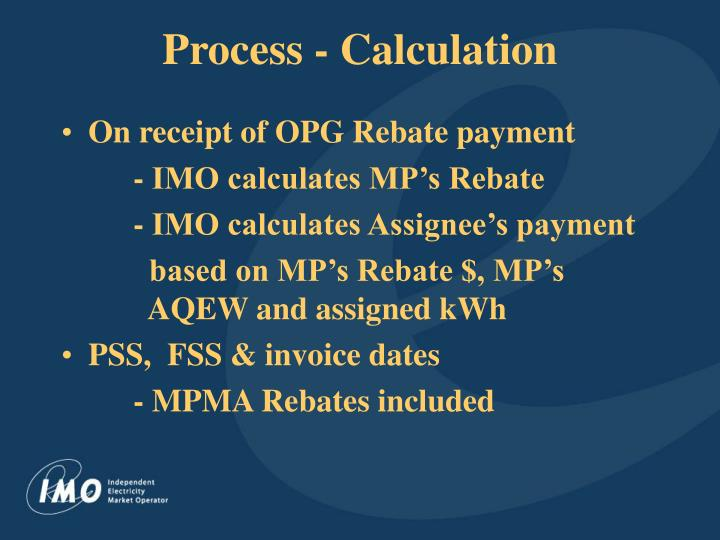 Process - Calculation