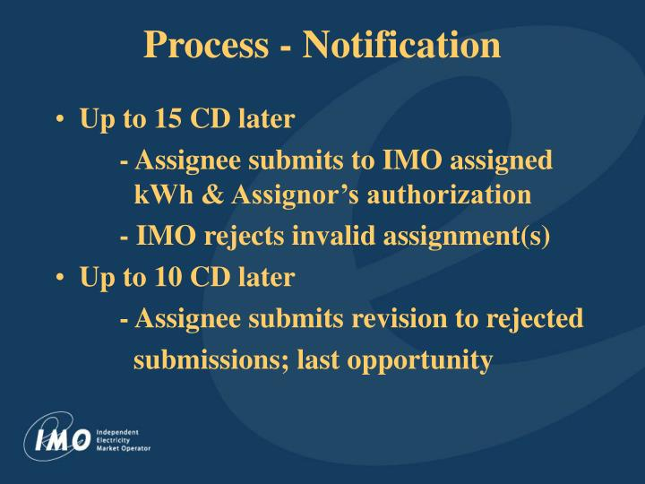 Process - Notification