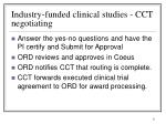 industry funded clinical studies cct negotiating1