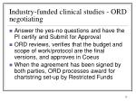 industry funded clinical studies ord negotiating1