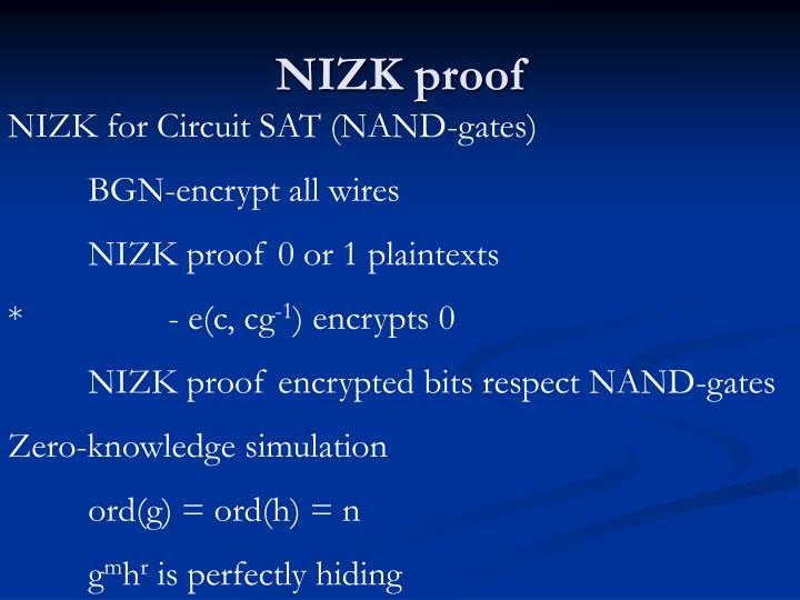 NIZK proof