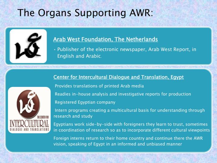 The Organs Supporting AWR: