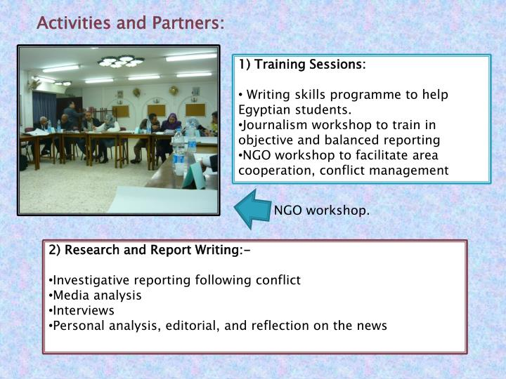 Activities and Partners: