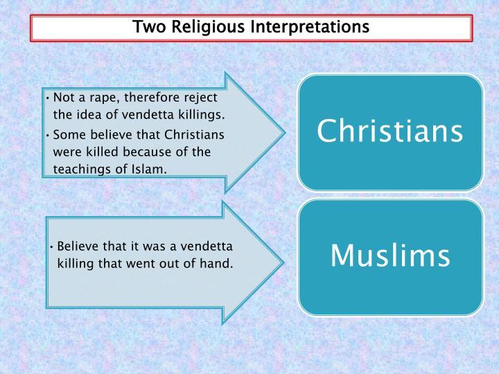 Two Religious Interpretations
